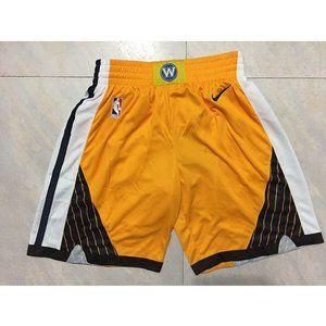NEW NBA Warriors Nike Yellow Shorts -Bonus edition